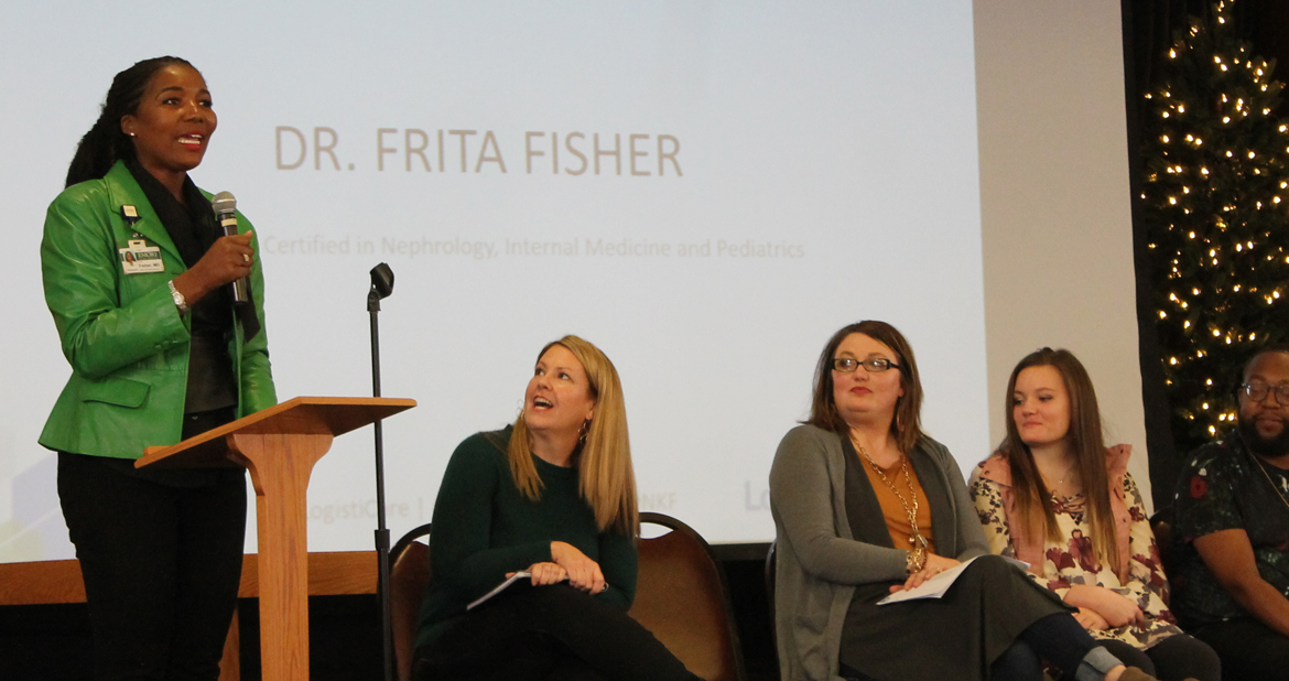Dr. Frita Fisher at the logistiCare Service Day Community Conversation Event